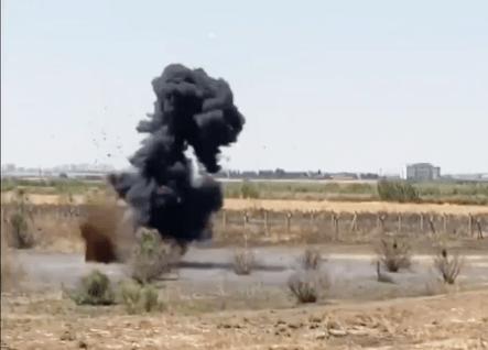 Suruç'ta 7 adet antitank mayını imha edildi