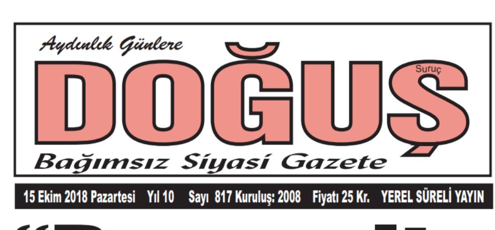 ŞANLIURFA GAZETELERİNE