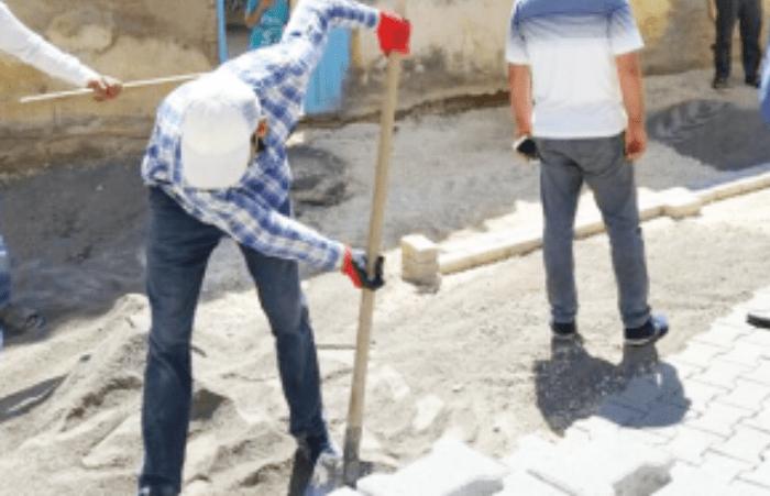 Eyyübiye Belediyesi Karayolu işleri yapıyor Urfa Haber