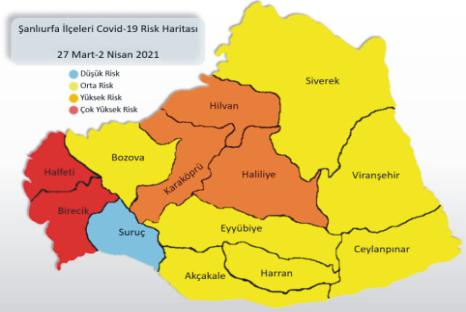 Orta Risk Haritasında Suruç Tek Mavi Kaldı Urfa Haber